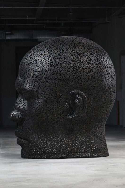 Meditative Faces Sculptures By Bicycle Chains