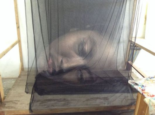 Striking 3D Artworks Created By Using Layers Of Thread And Netting