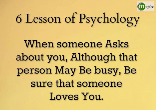 6 Lessons Of Psychology