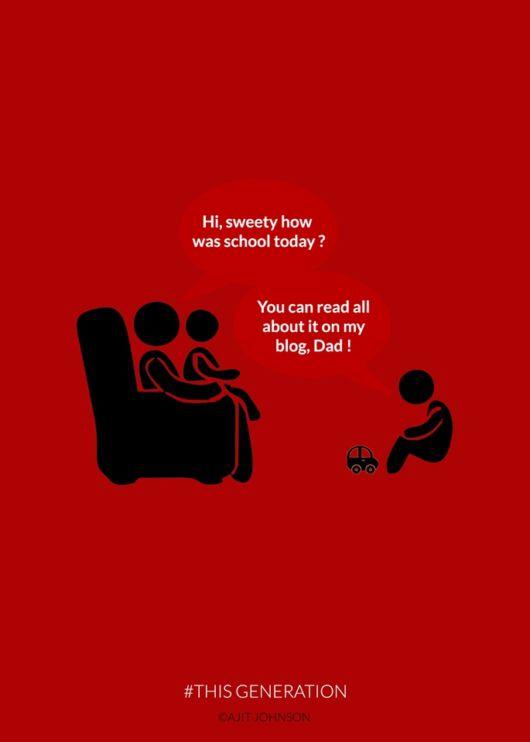 Minimal Posters Describing Present Generation