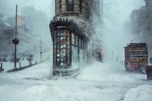 Stunning Photos Of NYC Winter Storm Resembles Impressionist Painting