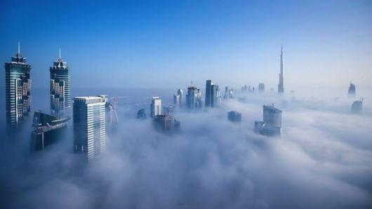 A Blanket Of Fog Covers Dubai