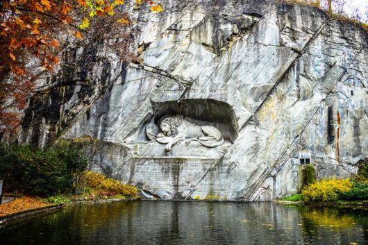 Amazing Lion Monument In Lucerne, Switzerland