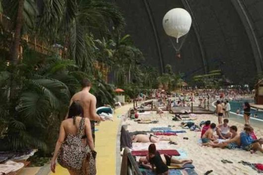 A Man-Made Tropical Island Resort In Germany