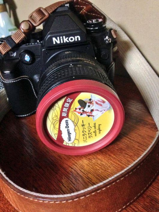 Famous Haagen Dazs Ice Cream Lid Is Actually A Perfect 72mm Lens Cap