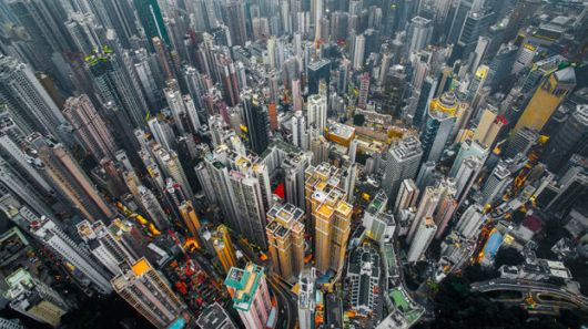 Spectacular Drone Photos Showing Hong Kong's High Rise Buildings