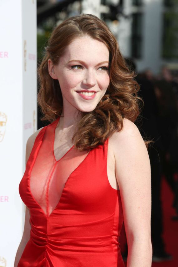 Charlotte Spencer Attends BAFTA Awards 2015