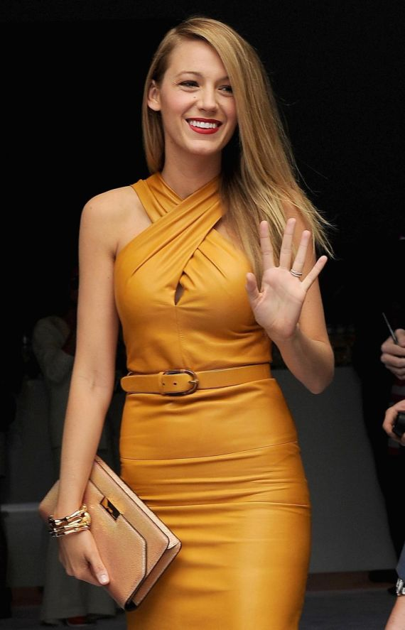 Blake Lively Attends Gucci Spring Fashion Show