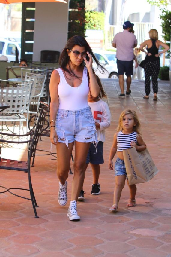 Kourtney Kardashian Out And About In Malibu