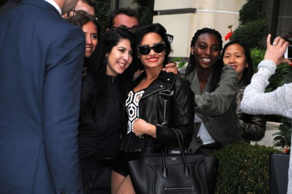 Demi Lovato's Stylish Arrival In Paris