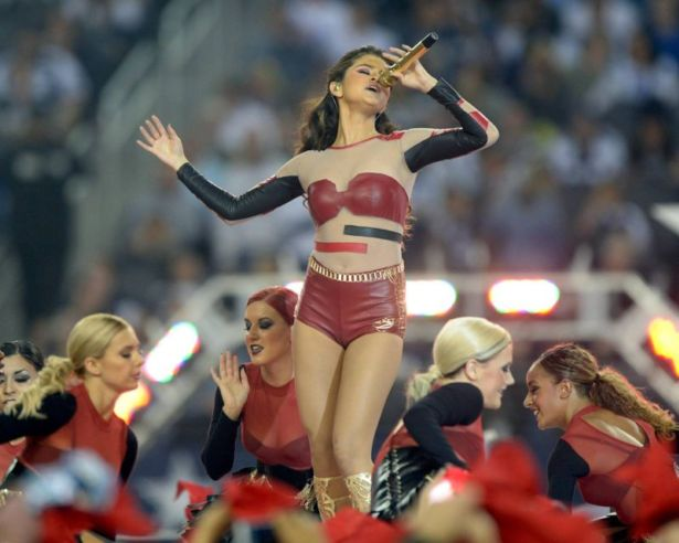 Selena Gomez Performs At An NFL Game